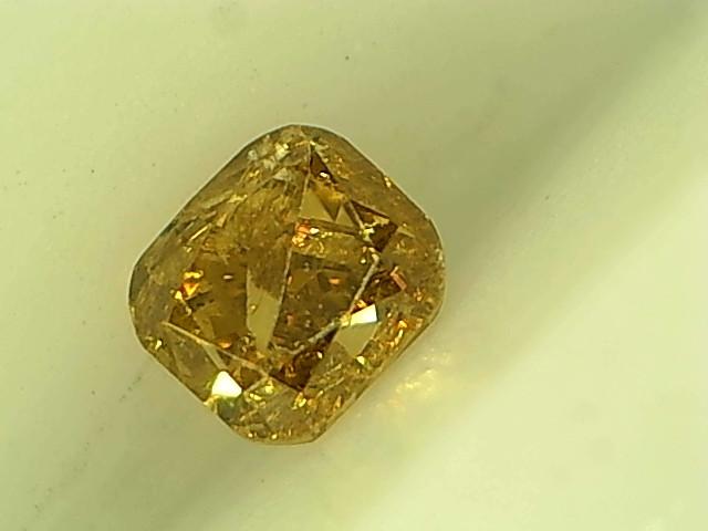0.19ct Fancy yellowish grayish Green Diamond ,100% Natural  Untreated