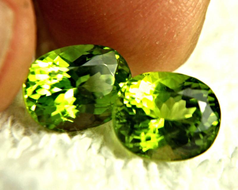 8.88 Tcw. Vibrant Green Himalayan VS Peridots - Gorgeous