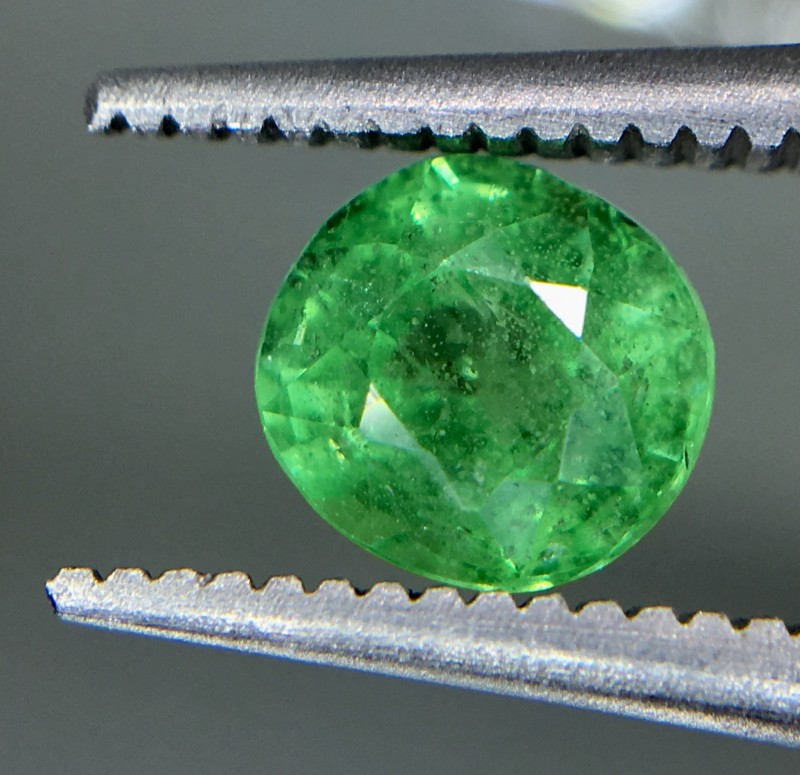 0.90 Crt Tsavorite Faceted Gemstone