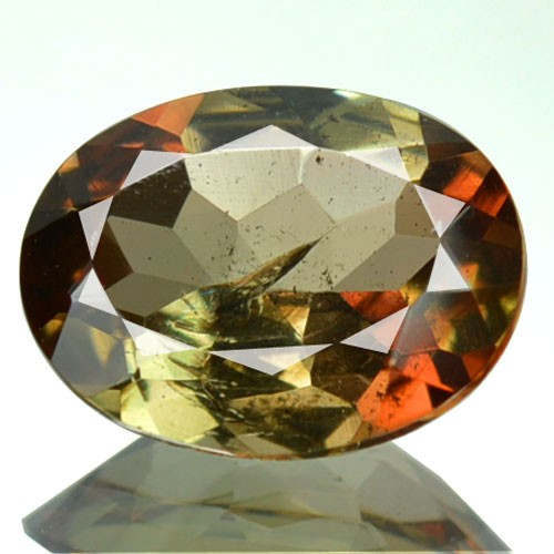 1.61 Cts Natural Double Shade Color Andalusite Oval Cut Brazil Gem