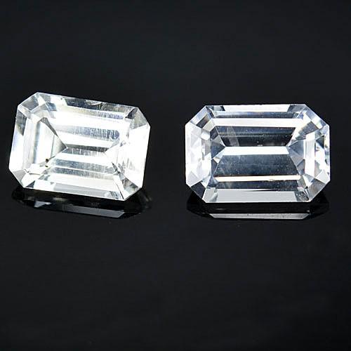 3.12 Cts Natural Corundum White Sapphire 2 Pcs Srilanka Gem
