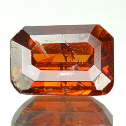 ~RARE~ 0.77 Cts Natural Sunset Orange Sphalerite Octagon Cut Spain