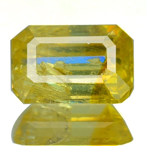 ~RARE~ 1.04 Cts Natural Canary Yellow Sphalerite Octagon Cut Spain