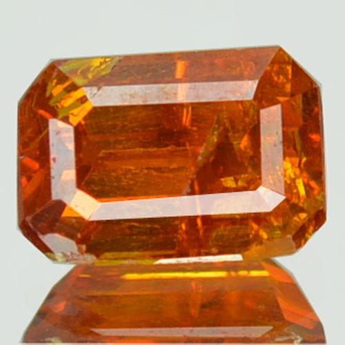 ~RARE~ 1.27 Cts Natural Sunset Orange Sphalerite Octagon Cut Spain