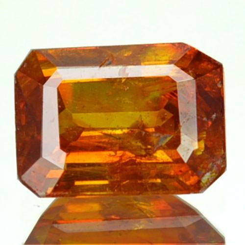 ~RARE~ 1.06 Cts Natural Sunset Orange Sphalerite Octagon Cut Spain