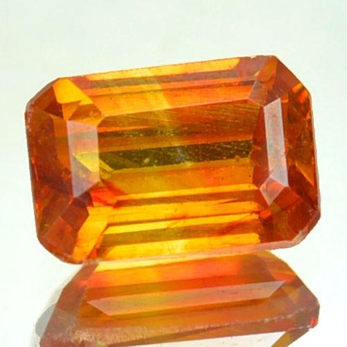 ~RARE~ 1.63 Cts Natural Sunset Orange Sphalerite Octagon Cut Spain
