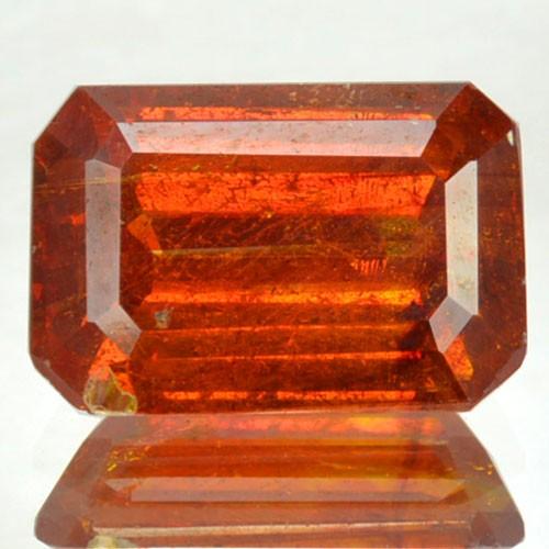 ~RARE~ 3.22 Cts Natural Sunset Orange Sphalerite Octagon Cut Spain