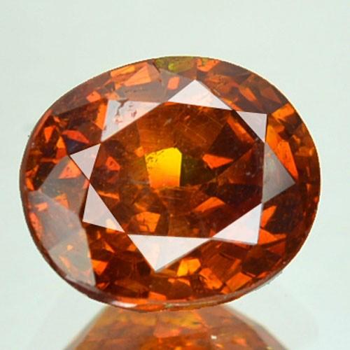 ~RARE~ 1.62 Cts Natural Sunset Orange Sphalerite Oval Cut Spain