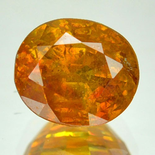 ~RARE~ 2.65 Cts Natural Sunset Orange Sphalerite Oval Cut Spain