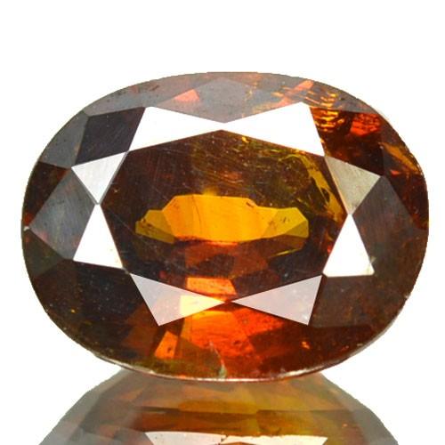 ~RARE~ 2.78 Cts Natural Sunset Orange Sphalerite Oval Cut Spain