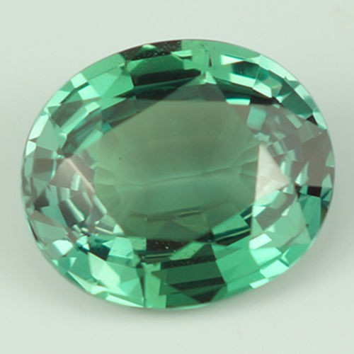 1.68 ct GRS CERTIED Rare Not Enhanced Medium Bluish Green Oval Single Alex