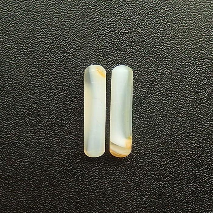 12ct New Design Natural Rare Agate bar Pair(18042008)