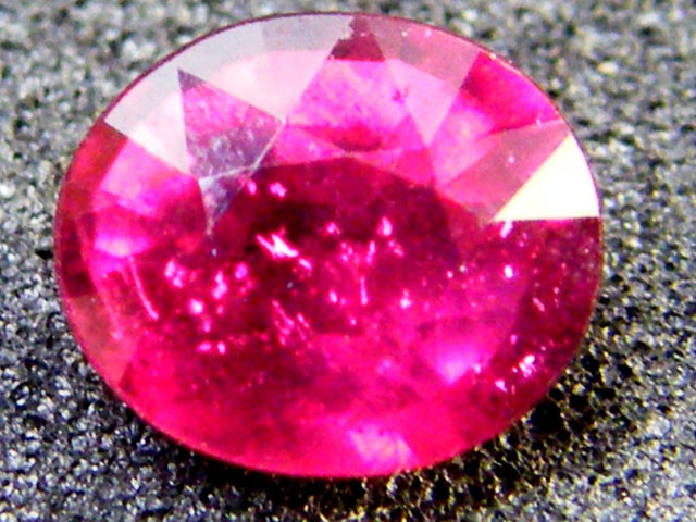 EYE CLEAN SPARKLING OVAL RUBY 1.30 CTS RM 120