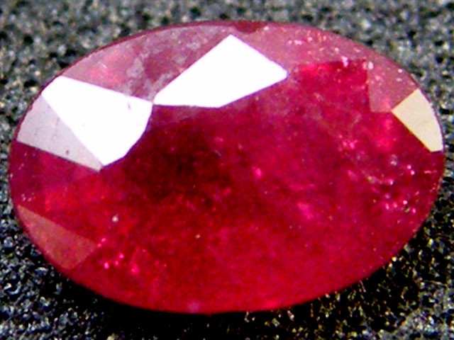 F/S  CLEAN SPARKLING OVAL RUBY 0.85 CTS RM 133