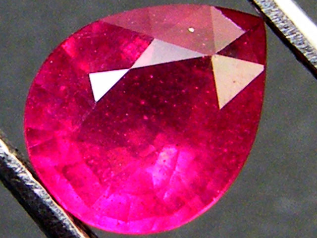 SPARKLING DEEP RASBERRY RED RUBY 1.05 CTS RM 188