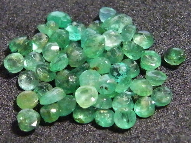 PARCEL FACETED EMERALD STONES 9.50 CTS SGS 19