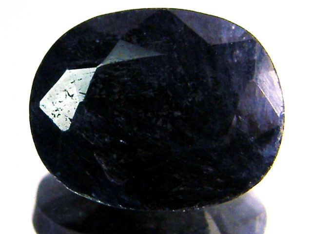 NATURAL METALLIC SHEEN BLUE SAPPHIRE STONE 5.10 CTS SGS 113
