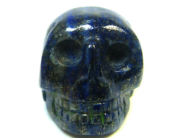 LAPIS  SKULL  SKELETON CARVING   76GRAMS AG650