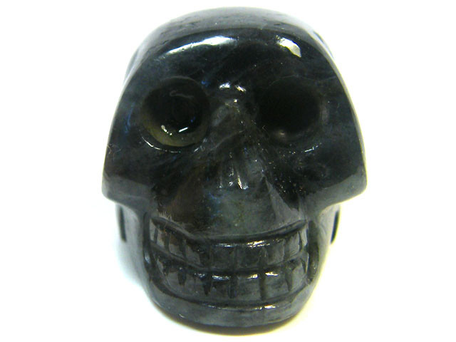 LABRADORITE SKULL SKELETON CARVING 86.75GRAMS AG659