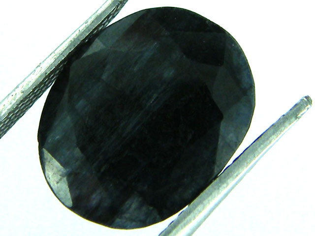 NATURAL METALLIC SHEEN BLUE SAPPHIRE STONE 7.45 CTS SGS 140