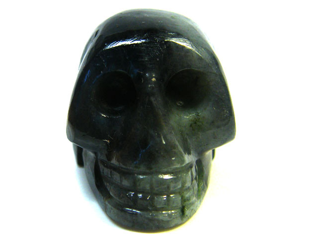 LABRADORITE SKULL SKELETON CARVING 89.35GRAMS AG662