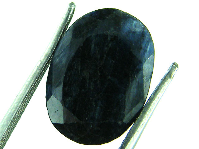 NATURAL METALLIC SHEEN BLUE SAPPHIRE STONE 5.50 CTS SGS 158