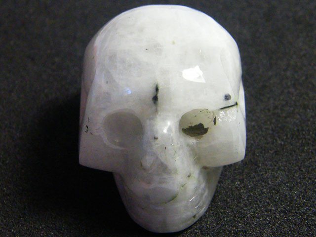 MILKY WHITE CRYSTAL  SKULL SKELETON CARVING 121.30GR AG726