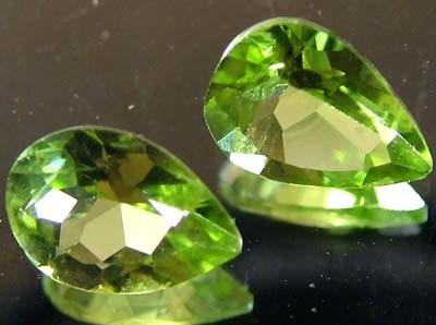 PERIDOT NATURAL FACETED STONE 1.50 CTS FN 3294 (TBG-GR)