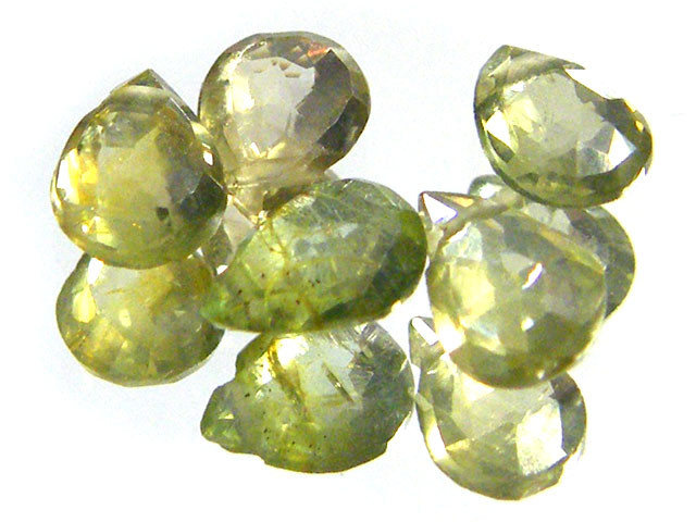 PARCEL WOW GREEN SPARKLING SAPPHIRE BEADS 3.20 CTS SGS 231