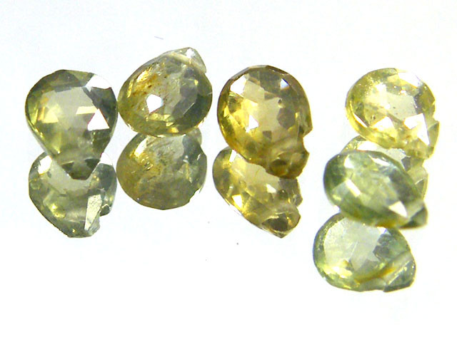 PARCEL WOW GREEN SPARKLING SAPPHIRE BEADS 3.10 CTS SGS 237