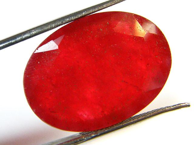 Quartz Ruby Red colour  24.65   carats   QU 175