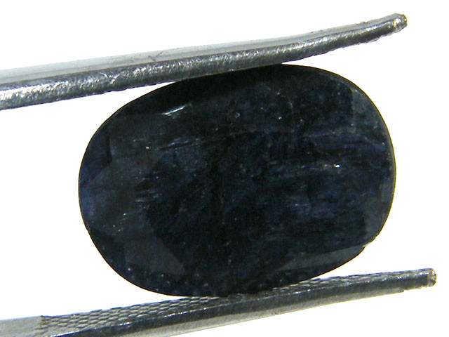 NATURAL METALLIC SHEEN BLUE SAPPHIRE STONE 4.35 CTS SGS 288