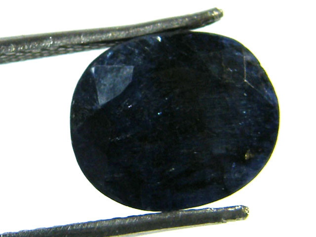 NATURAL METALLIC SHEEN BLUE SAPPHIRE STONE 4.90 CTS SGS 298