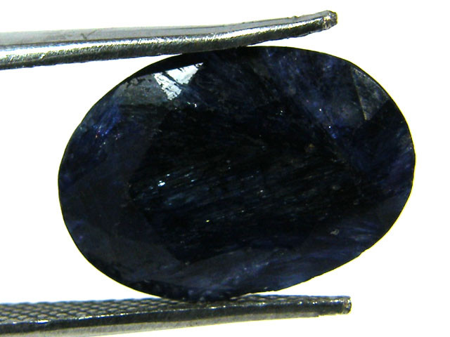 NATURAL METALLIC SHEEN BLUE SAPPHIRE STONE 6.85 CTS SGS 303