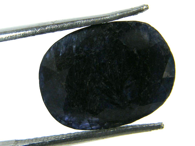 NATURAL METALLIC SHEEN BLUE SAPPHIRE STONE 6.55 CTS SGS 305