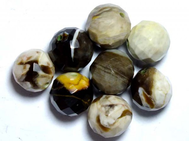 PETRIFIED WOOD BEADS, (8PC) 62.15CTS NP-1018