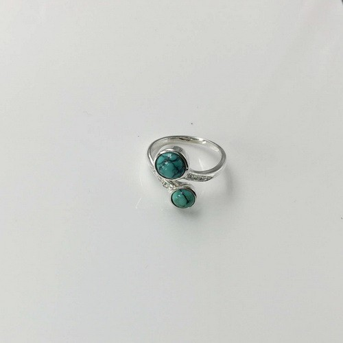 17mm turquoise Ring handmade customizable Ring, silver ring Gift For Her(mg
