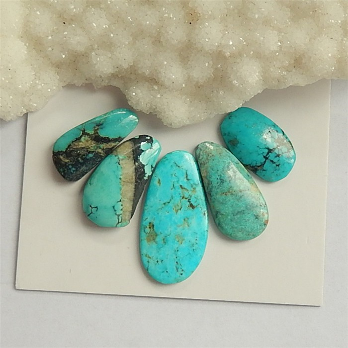 36.5ct  5Pcs Hot Sale Nugget Turquoise Cabochon (18042410)