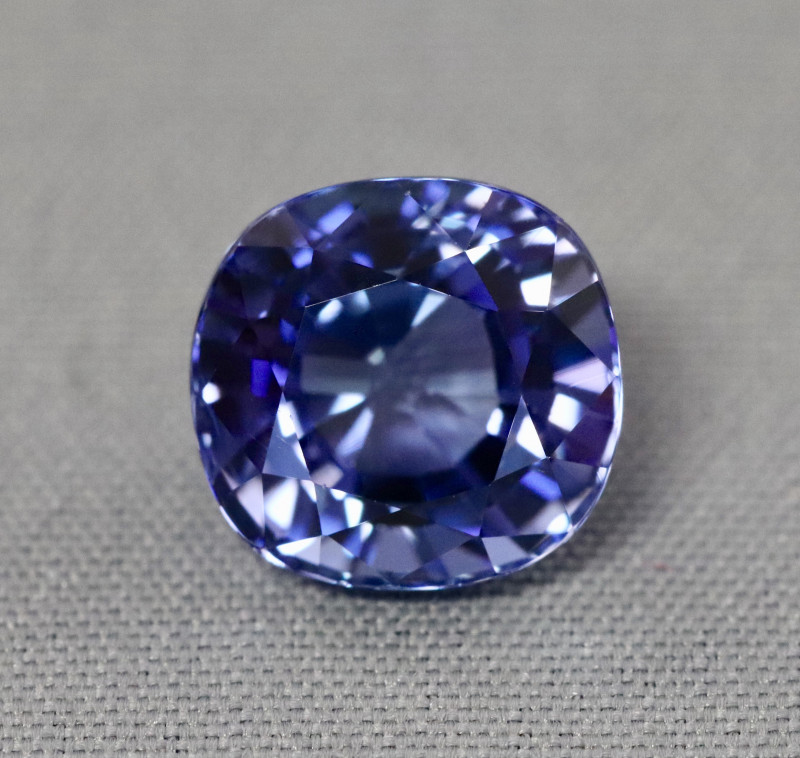Natural purplish blue tanzanite.