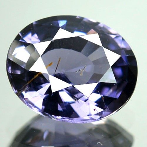 1.59 Cts Natural Purplish Blue Spinel Oval Cut Burmese