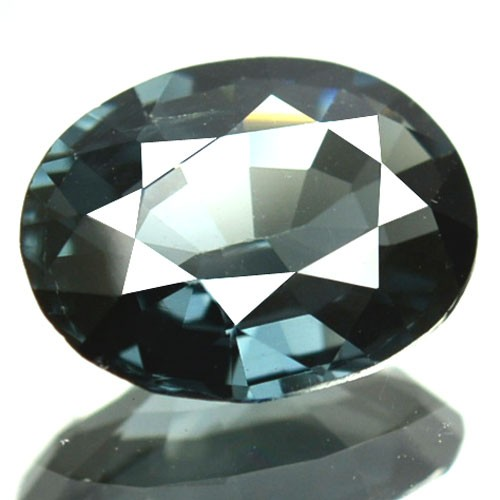1.63 Cts Natural Bluish Grey Spinel Oval Cut Burmese