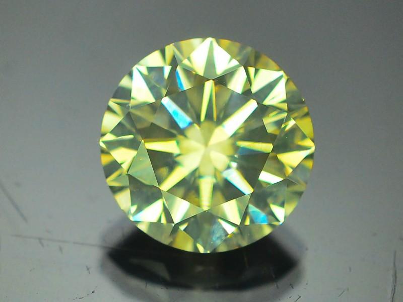 GIL Certified 1.77 ct Si2 Clarity Natural Diamond Intense Greenish Yellow