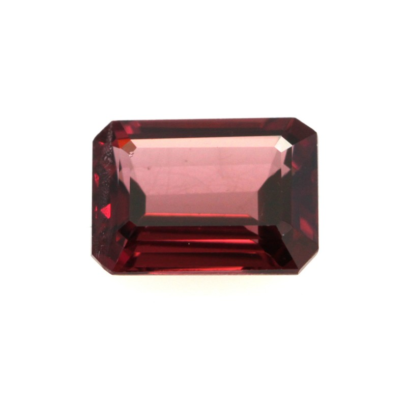 1.38cts Natural Rhodolite Garnet Emerald Cut