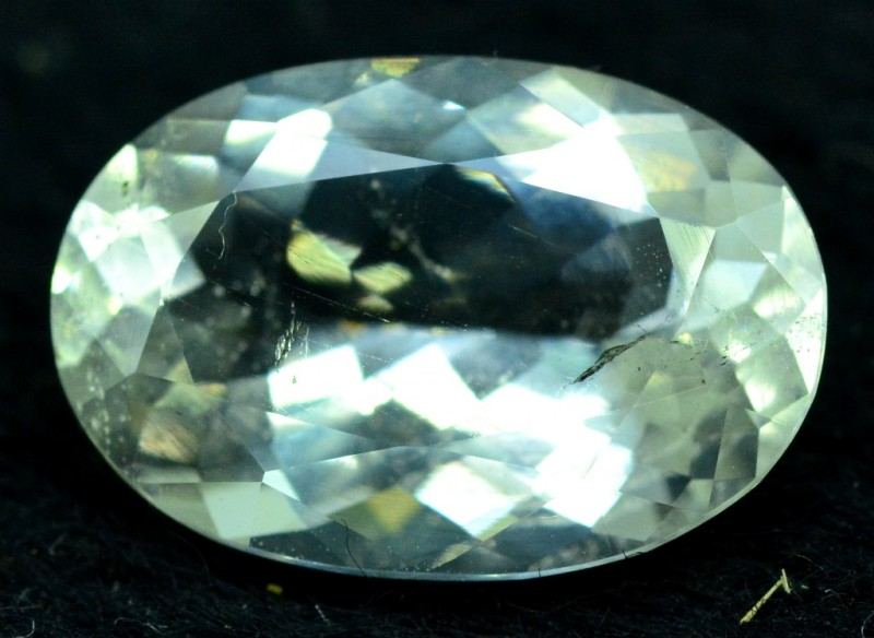 3.95 cts Oval Cut Rare Afghan pollucite Gemstone from afghanistan