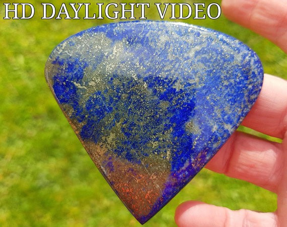 74mm Lapis Lazuli heart shape cabochon 310ct 74 by 71 by 8mm AAA Museum Qua