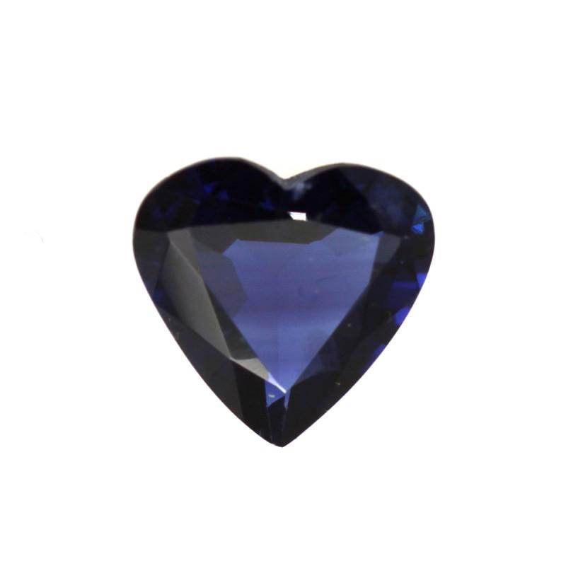0.95cts Natural Australian Blue Sapphire Heart Shape