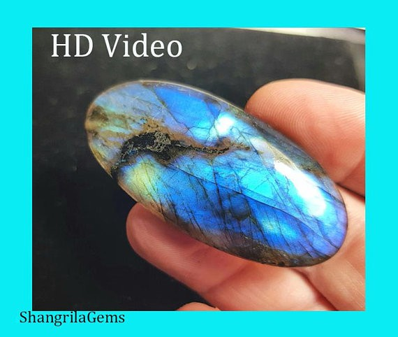52mm labadorite cabochon oval cabochon 72ct 52 by 25 by 7mm