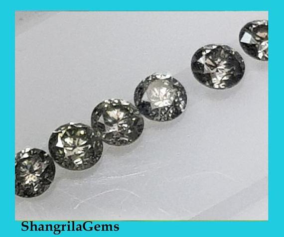 4 Salt Pepper diamonds brilliant cut 2.5mm 0.25ct AA grade