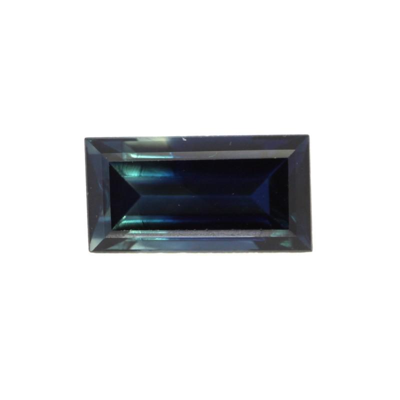 1.11cts Natural Australian Blue Sapphire Baguette Shape