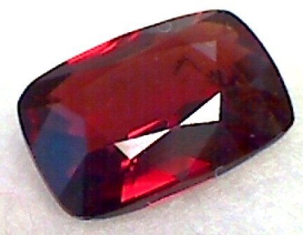 1.25ct Baguette cut CERTIFIED Red Unheated Spinel Burma B241 F84
